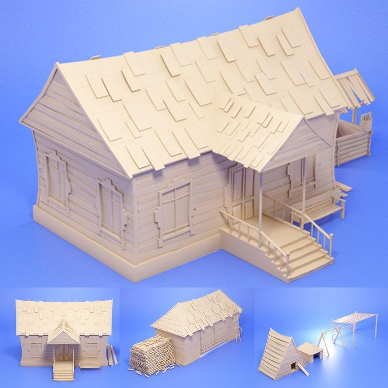 farm houses 3d max