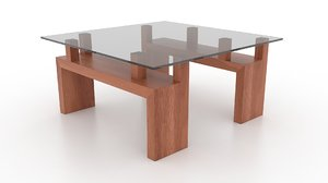 3d model viesso knar square coffee table