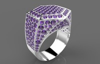 3ds gold diamond ring