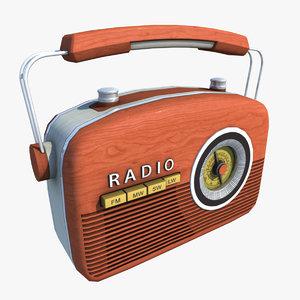 obj vintage radio