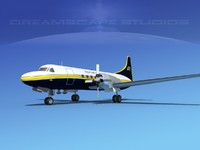 3d propellers convair cv-580 transport