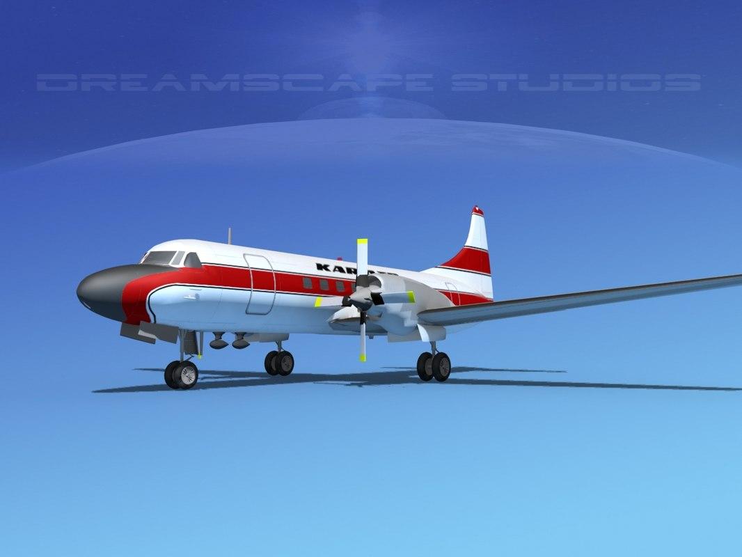 dxf propellers convair cv-580