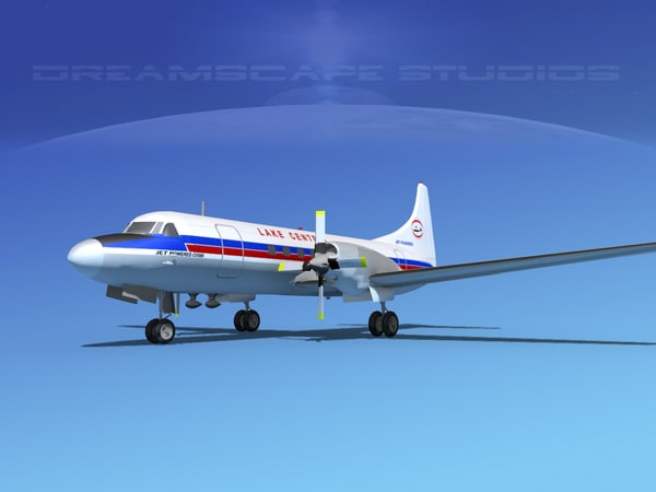 propellers convair cv-580 3d model