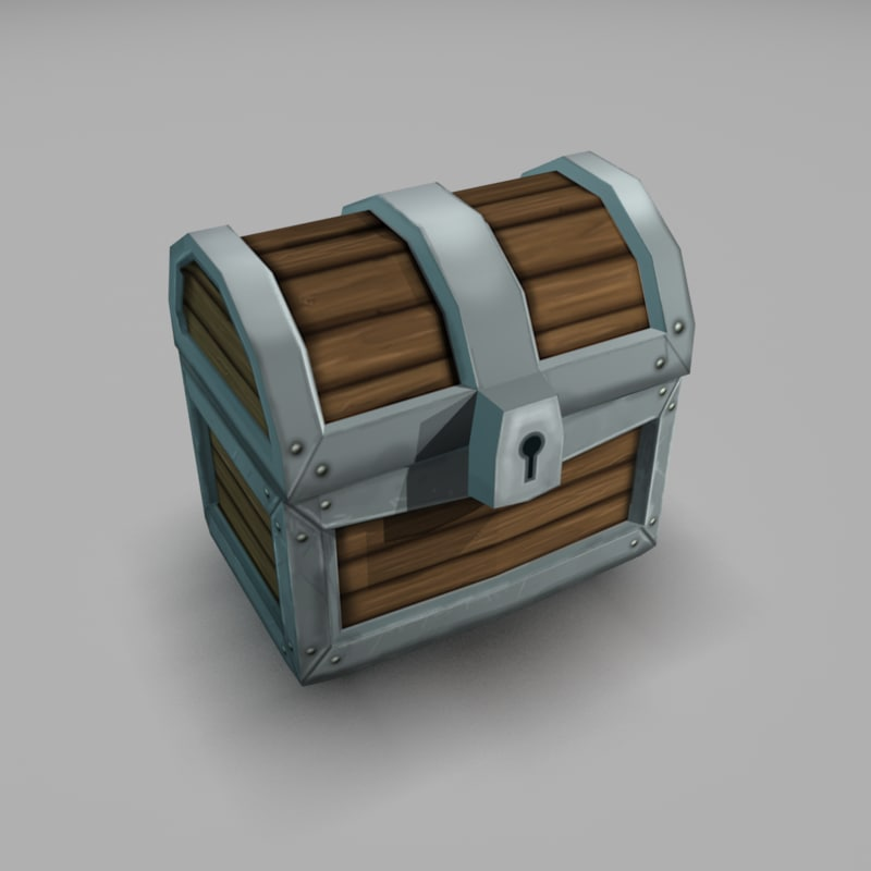 pirate chest 3d max