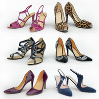6 pairs of women's shoes