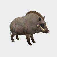 low-poly boar max