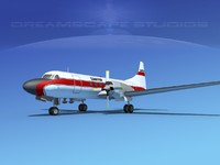 3d propellers convair cv-580 model