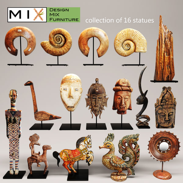 figurines design mix 3d max