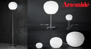 meteorite lamp artemide floor 3d model