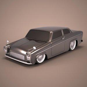 3d model hot rod antique car