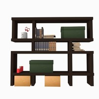 asset shelving books 3d 3ds