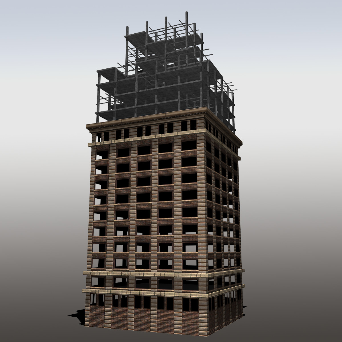 3d modeled unfinished building