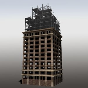 3d modeled unfinished building