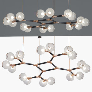 3d model chandelier lamp light