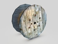 used cable drum 3d model