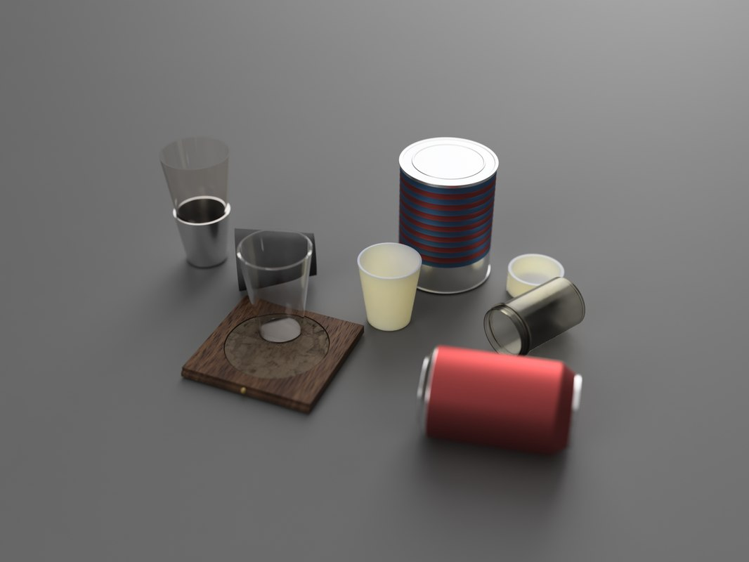 pack food 3d model