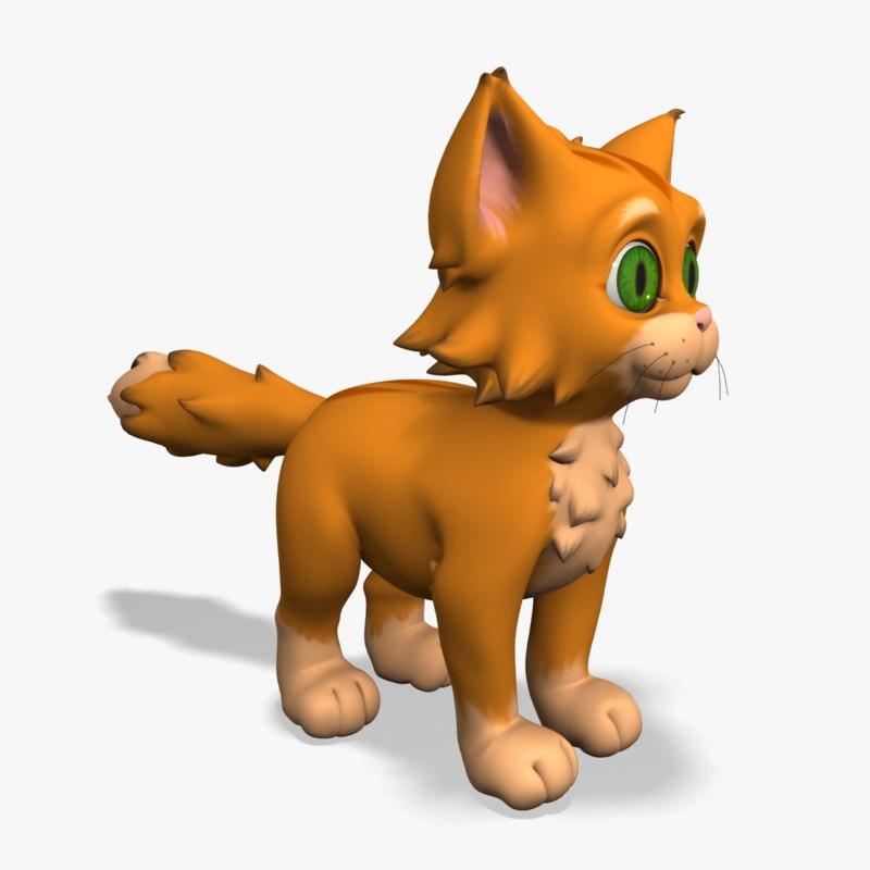 3d modeled kitten
