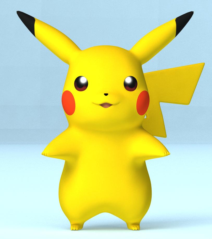 Pokemon Pikachu 3d Model