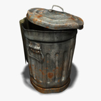 Old trash can