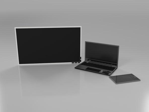 obj pack electronics laptop