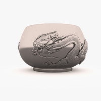 bowl chinese ancient 3d model