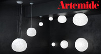 Meteorite lamp by Artemide Suspension and Wall set