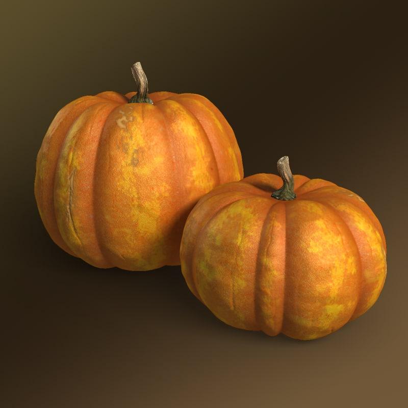 modeled pumpkins 3d model
