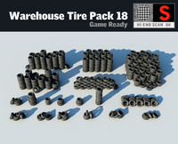 warehouse tyre pack 18 3d max