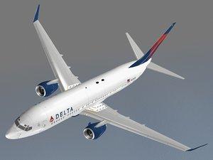 b 737-800 delta 3d dwg