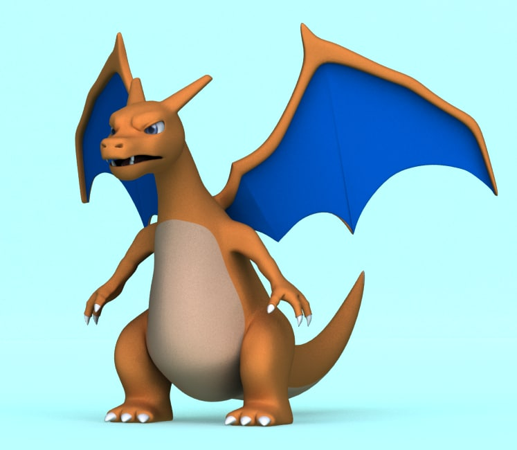 pokemon charizard obj