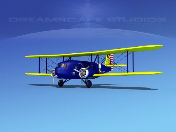 propellers curtiss condor 3d model