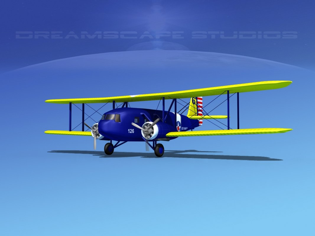 propellers curtiss condor 3d model