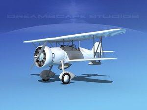 curtiss fighter goshawk 3d model