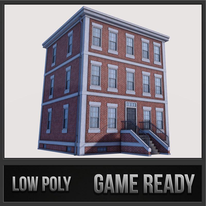 boston building 01 3d max