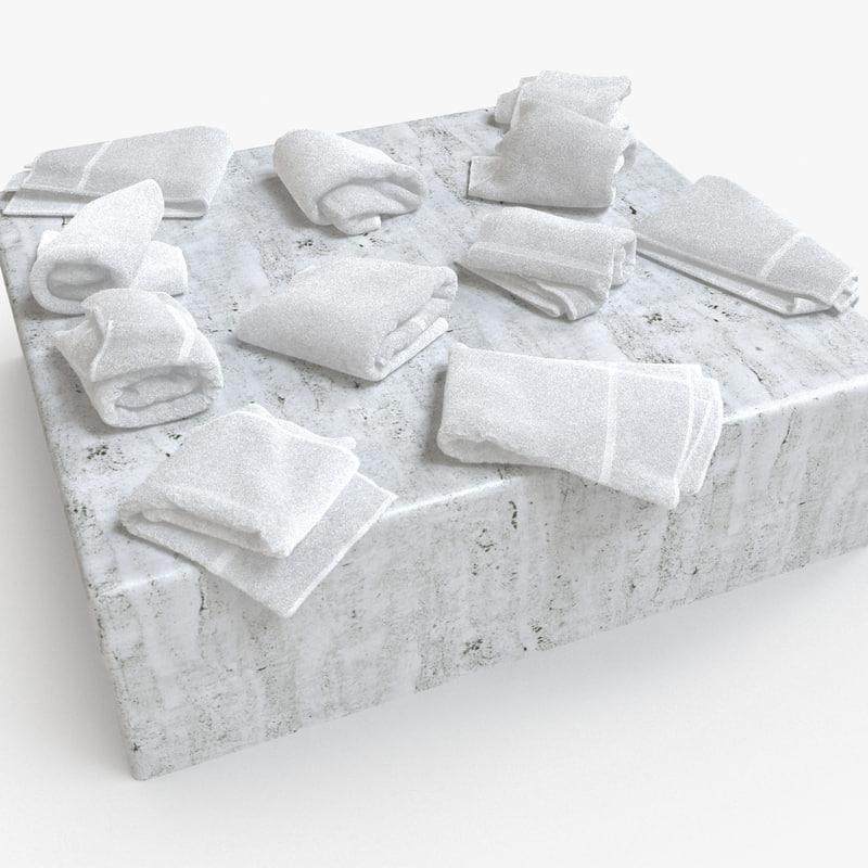 3d bath towels