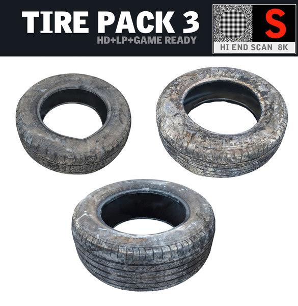 3d obj tire pack 3