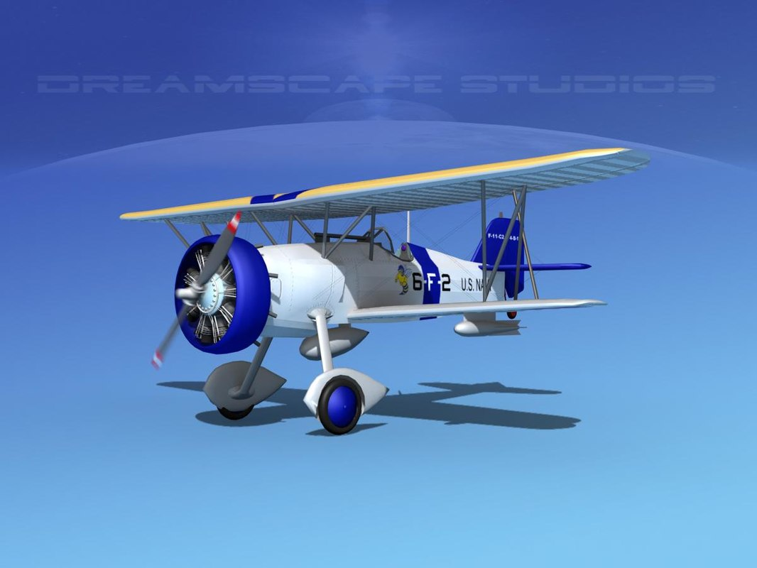 3d curtiss fighter goshawk model