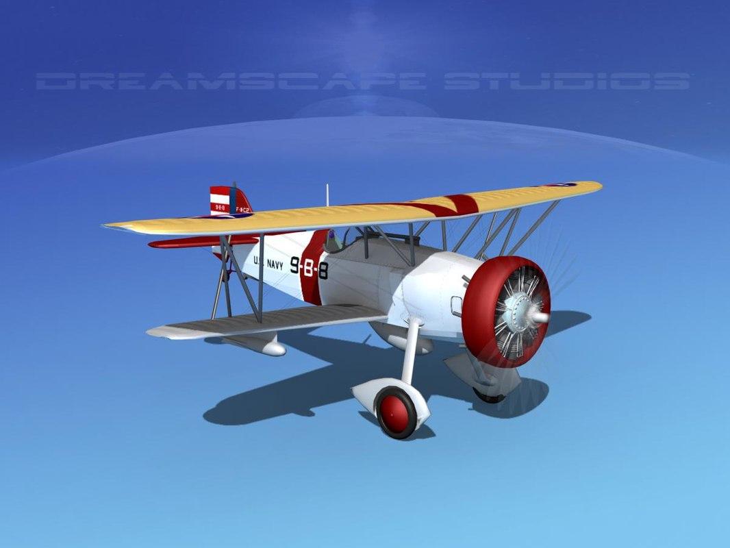 3d model curtiss fighter goshawk