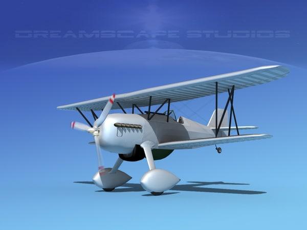 3d model curtiss hawk fighter p-6