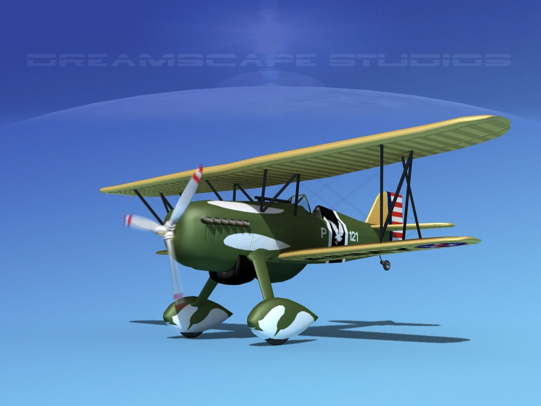 dxf curtiss hawk fighter p-6