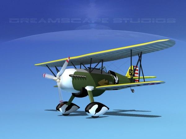 curtiss hawk fighter p-6 3d 3ds