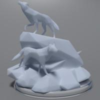 3d model art wolves
