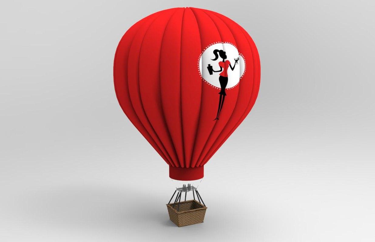 3d hot air balloon model