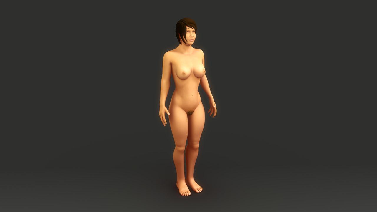 naked women 3d model