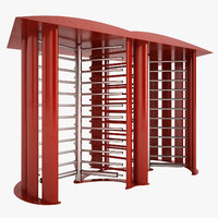 3d galvanized steel turnstile