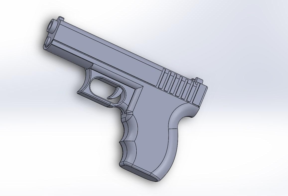 3d model of glock 26