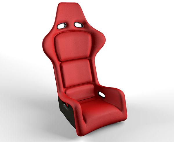 3d motor racing bucket seat model