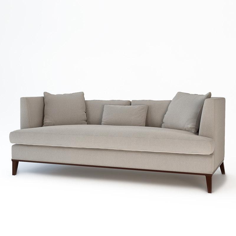 3d model presidio sofa barbara barry