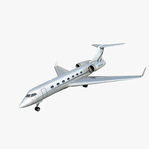 3d gulfstream g550 private jet