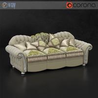 3d classical sofa sat venice